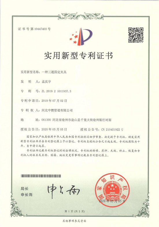 Patent Certificate: TEE